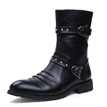 Tactical Autumn Winter Boots Men 2017 Fashion Leather Motorcycle Ankle Martin Boots High Cut Men Casual Shoes Botas Femininas