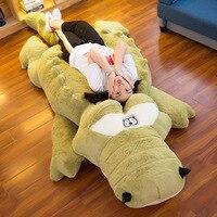 Big Size Crocodile Lying Section Plush Toy Pillow Mat Plush Doll Soft Stuffed Animal Toy Cartoon Plush Dolls Kids Girl Gift