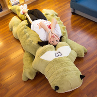 Big Size Crocodile Lying Section Plush Toy Pillow Mat Plush Doll Soft Stuffed Animal Toy Cartoon Plush Dolls Kids Girl Gift