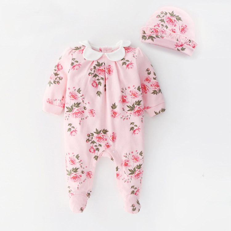 2d8a67e793fe newborn baby girl clothes 0-3 months cute jumpers 2019 Foot vintage cotton  baby romper Clothes+hat white pink baby clothing 6 9m - aliexpress.com -  imall. ...