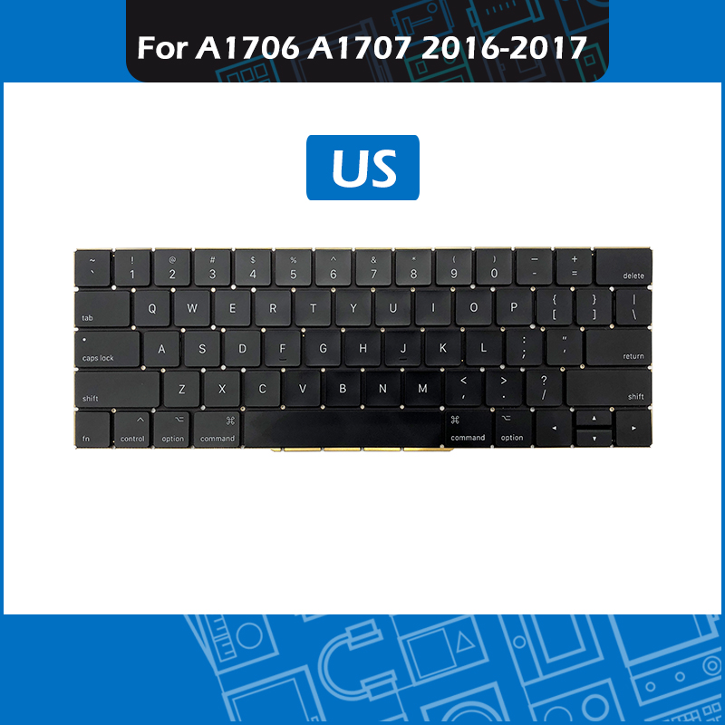 Layout US For MacBook Pro Retina 13 15 A1706 A1707 Keyboard US 2016 2017 MLL42 MPXQ2