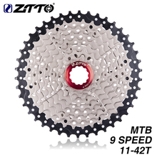 цена на ZTTO MTB 9 Speed Cassette 11-40t 11- 42t 11-46t 11-50t Wide Ratio Bicycle Freewheel Bike Sprockets For SH M430 M400 System