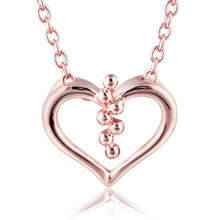 все цены на Hollow Heart Necklaces Pendants Love Heart Pendant For Necklace 18K Gold Women Girls Jewelry Necklace 0.96G онлайн
