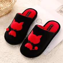 Women's Shoes 2018 New Men Women Slippers Home Winter Warm Cotton Slippers Women Cartoon Indoor Home Cute Couple Female Slippers halluci pink cute superstar home slippers women shoes polar fleece winter keep warm pulsh indoor slippers simple couple shoes