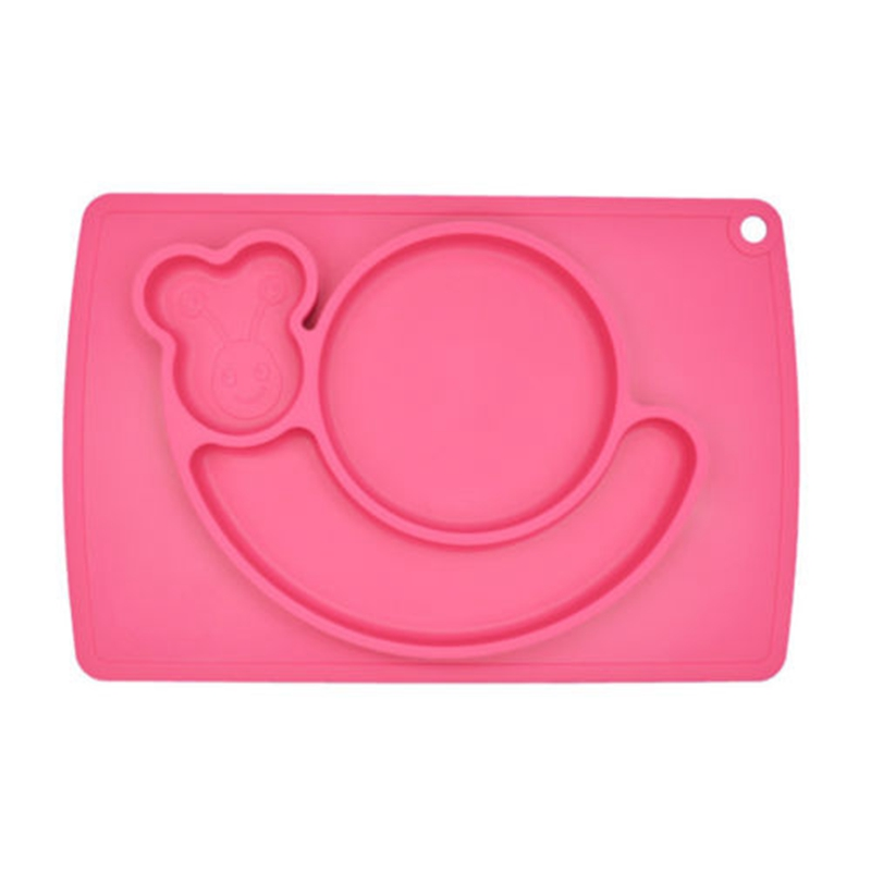 1Pcs New Food Grade Silicone Placemat Snail Shape Rice Plate Table Mat for Baby Toddler Kids Dining Table Kitchen Dinnerware