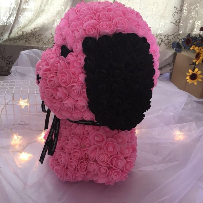 Personnalisé fait à la main qixi cadeau chiot PE mousse rose carlin immortel fleur cadeau boîte pour la saint-valentin livraison gratuite - 4