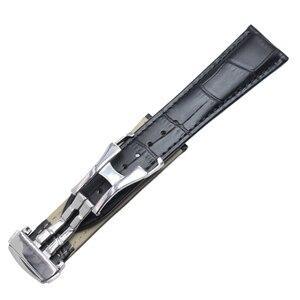 Image 3 - Ремешки для наручных часов 20 мм 22 мм ремешок для часов из натуральной кожи Черный Коричневый Оранжевый ремешок для часов Сменные Аксессуары Металлическая стальная пряжка