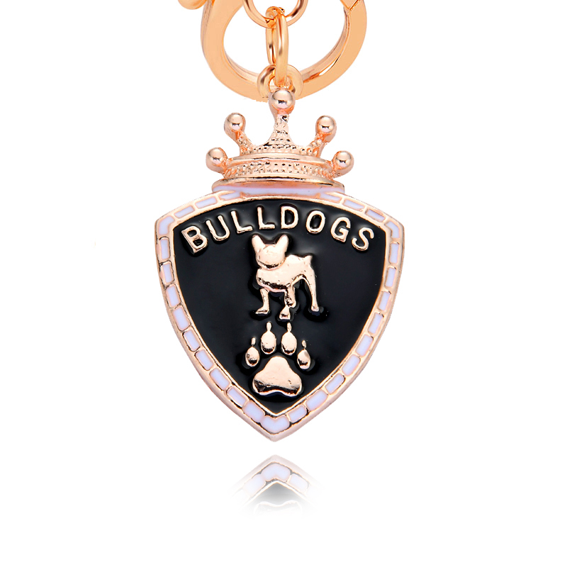 2018 Pet Key Chain Bulldogs Dogs Key Ring Bag charm Wholesale Lovely Keychain Car Keyring gift Women Jewelry ea