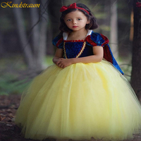 2019 Girls Snow White Dress Up Clothes Kindstraum Girl Short Sleeve Princess Costume For Cosplay Party Bow Dresses DC017