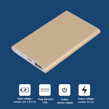 Super Mince 4000 mAh Externe Power Bank Mobile Téléphone Batterie Alimentation Chargeur Pour Téléphones Intelligents