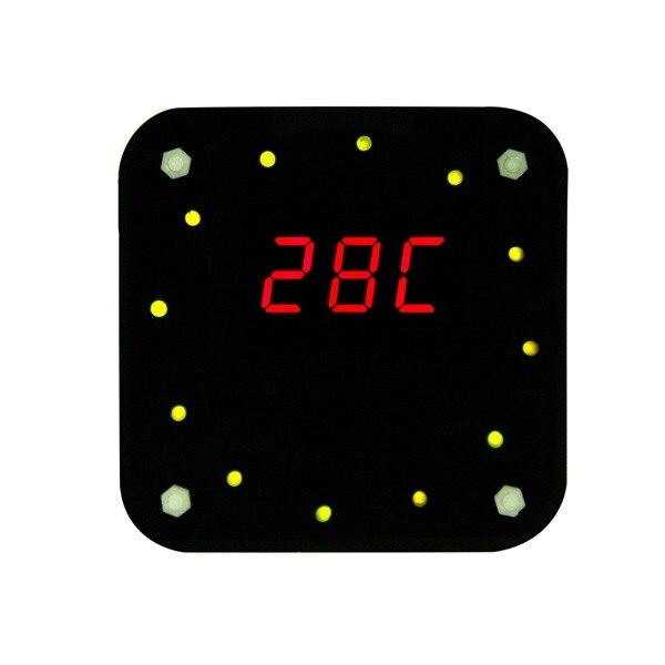 Fabbrica all'ingrosso spedizione gratuita DS1302 rotazione kit orologio elettronico LED + scatola acrilica