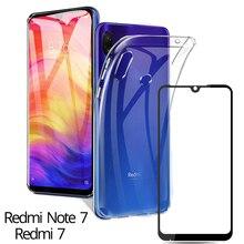 2019 TPU Soft Case Redmi Note 7 Phone Cover Silicone Ultra Slim Xiaomi Cases Screen Protector