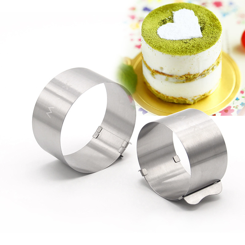 High quality 4 inch small round stainless steel cake baking mold 6-10cm adjustable mousse ring free shipping