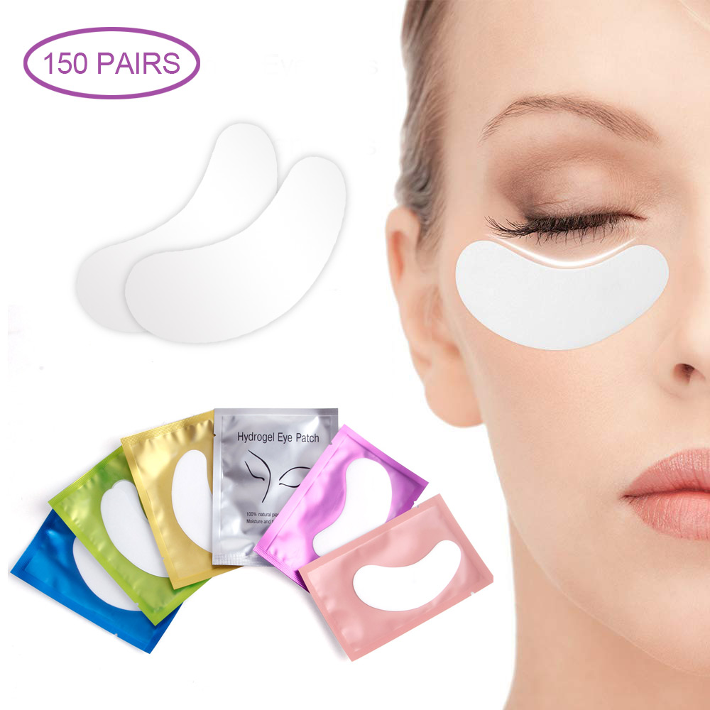 50/150 Pairs Lint-free Pillows For Eyelash Extension Under Eye Lashes Pads Disposable Mixed Paper Patches Eyelashes Makeup Tools