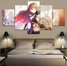 Yang Xiao Long RWBY Anime HD Print Painting Home Decor 5 Piece Paintings Wall Art Canvas Modern Room