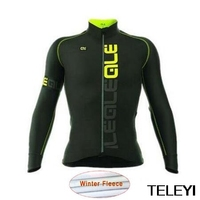 Ale Ropa Ciclismo Hombre Invierno Winter Thermal Fleece Long Cycling Jersey Maillot Only 2017 Mtb Clothing