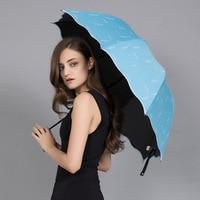 プロモーション! 折りたたみ日傘太陽雨傘軽量女性コボルト抗uv繊維繊細な ギフト中国パラソル株式会