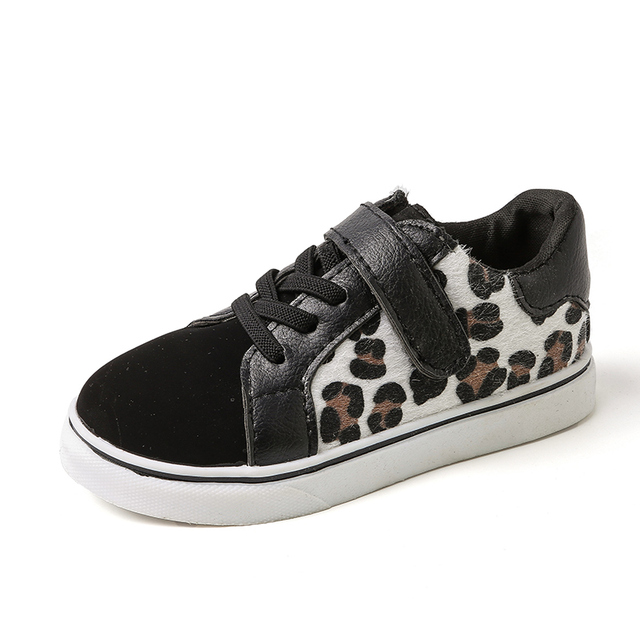 0b1793178 Children Casual Sport Shoes Spring Autumn Fashion Leopard print Non-slip Sneakers  Kids Shoes For Girls Boys Single Shoes