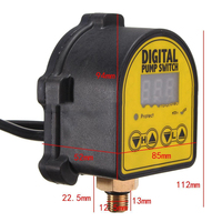 Digital Automatic Switch Controller Air Pump Water Oil Compressor Pressure Switch Controller 220V AC 10A Manual