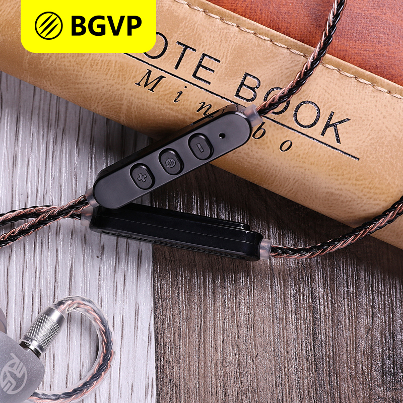 BGVP M1 APTX Bluetooth Module V4.2 Earphone Cable for MMCX Headsets BGVP DN1 DM5 DS1 Detachable Cable HiFi OCC Cable with Mic 800 wires soft silver occ alloy teflo aft earphone cable for ultimate ears ue tf10 sf3 sf5 5eb 5pro triplefi 15vm ln005407