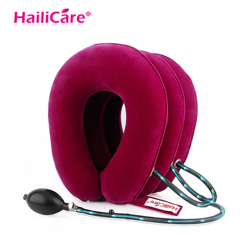 3Layer Neck Traction Device Inflatable Air Cervical Neck Pillow Brace Neck Massage Muscle Relax Shoulder Pain Relief Health Care