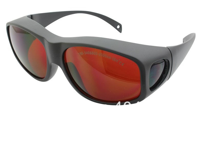 laser safety glasses for 190-540nm & 800-2000nm  lasers, O.D 4+ CE, High V.L.T % ce ep 1a 190 540