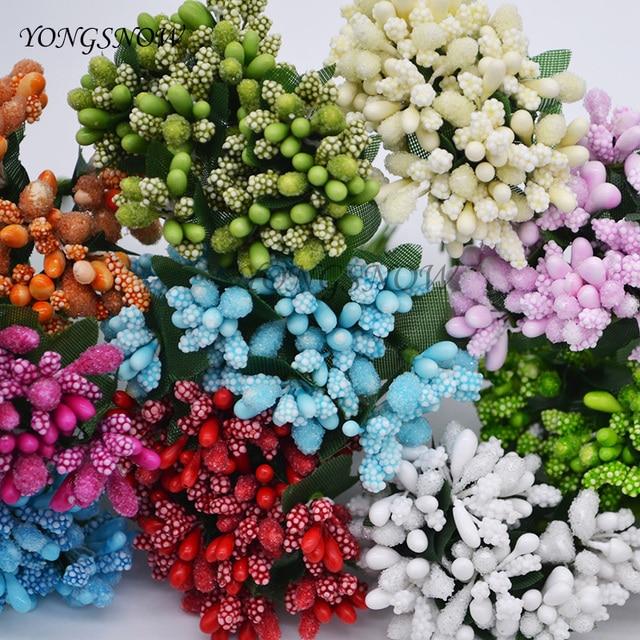 Mulberry Artificial Flowers 144Pcs/lot Mini Silk Glass Flower ...
