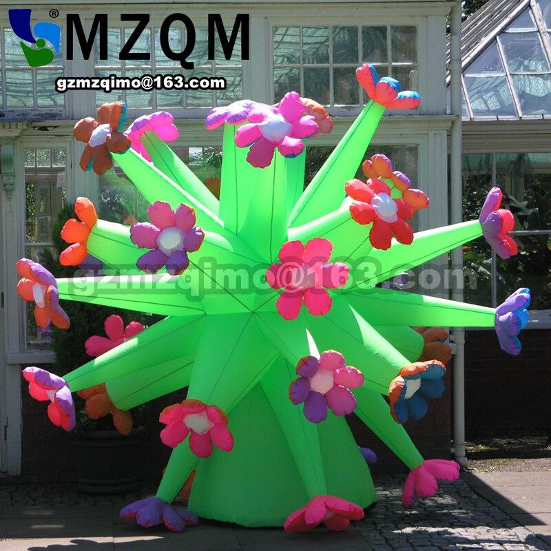 Fiori gonfiabili per la decorazione di nozze gonfiabile giardino estivo fiore decorazione displayFiori gonfiabili per la decorazione di nozze gonfiabile giardino estivo fiore decorazione display