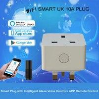 영국 표준 접지 홈 오토메이션 원격 제어 소켓 wifi 스마트 플러그 지원 amazon alexa 음성 제어 womo smart app