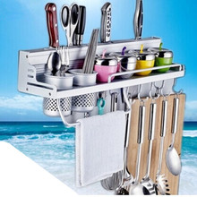 High-grade kitchen knife storage rack space aluminum kitchen shelf kitchen storage rack single aluminum space frame