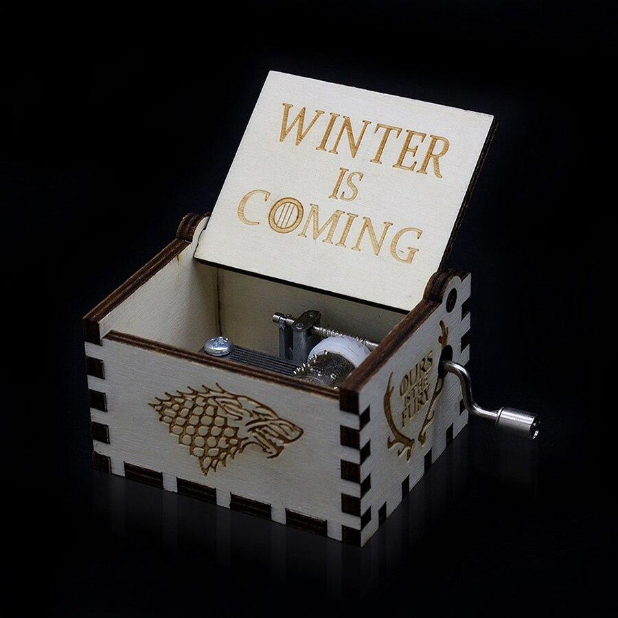 Деревянная музыкальная шкатулка для игры в трон, подарок на Рождество, день рождения, год, подарок для детей - Цвет: GOT008