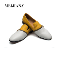MEIJIANA Style Handmade Patent Leather Shoes Metal Zipper Accessories