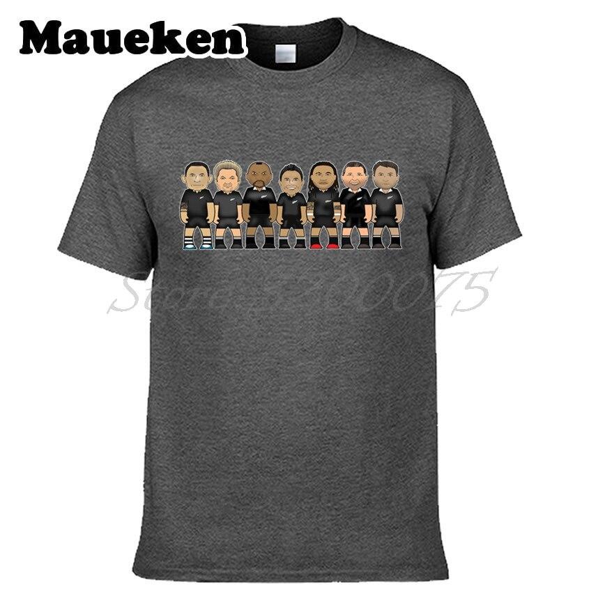 Men new zealand Rugbying all black legends Jonah Lomu Richie McCaw Dan Carter Bill Williams Maa Non T-shirt tshirt tee W0522007