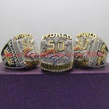На Продажу 2015 2016 Денвер Бронкос Супер Боул Медь Чемпионат Кольцо 8-14Size Выгравированы Внутри МЭННИНГ Любителей Подарок