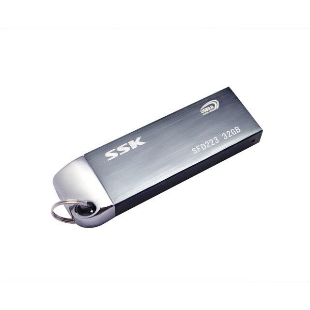 Free shipping Ssk SFD223 USB 3.0 flash drive 100% 32GB Metal High-speed usb flash drive pen drive