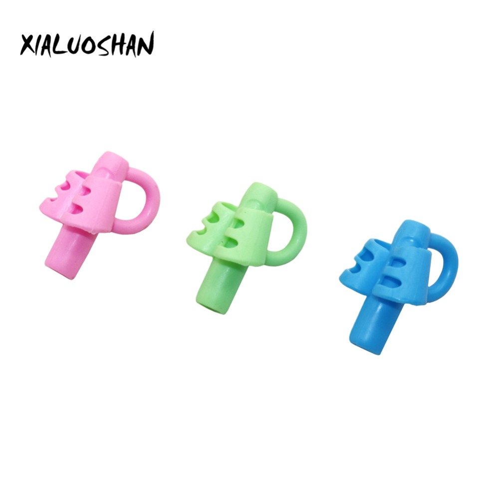 1 Pc Three-fingers Soft Glue Pen Holder Environmental Protection Recycle Teaching And Writing Auxiliary Tool