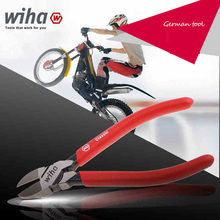 Germany Wiha 37355 Diagonal Pliers 160mm 6.5inch Hardness 62 HRC Tool Steel Cable Cutter with Spring For Cutting plastics(China)