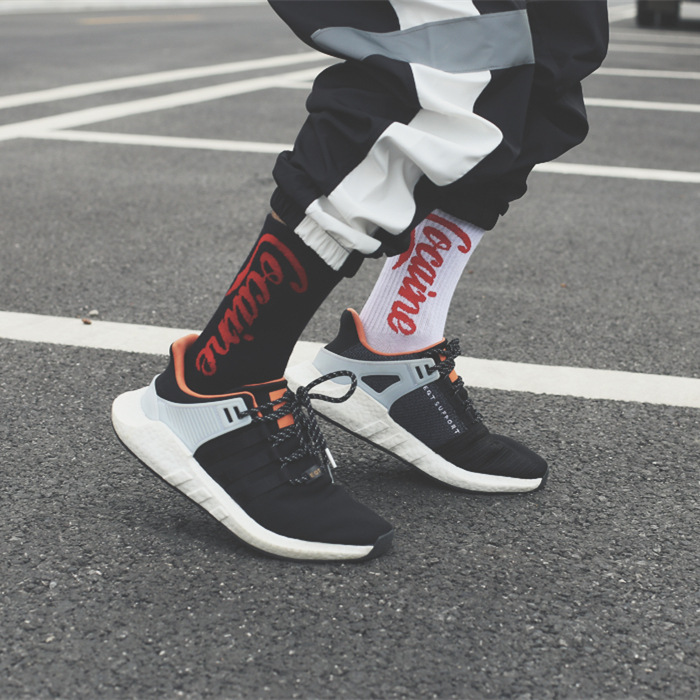 Summer long men's tide street Europe and America hip hop wild cola   socks   Female ins skateboard   socks   unisex Harajuku Calcetines