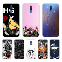 กระเป๋าโทรศัพท์สำหรับ Huawei Mate 10 Lite เคสฝาครอบต่างๆสัตว์ Cat Dark ซิลิโคนสำหรับ Huawei Nova 2i ครอบคลุม funda Honor 9i 5.9