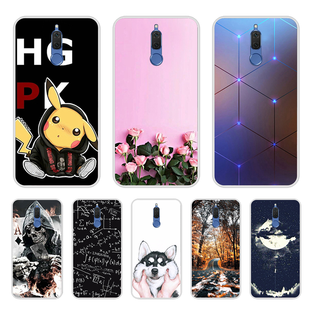 Phone Bags For Huawei Mate 10 Lite Case Cover Various Animal Cat Dark Silicone Case For Huawei Nova 2i Covers Funda Honor 9i 5.9-in Fitted Cases from Cellphones & Telecommunications