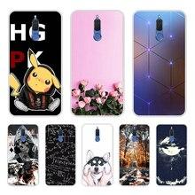 Sacs de téléphone pour Huawei Mate 10 Lite housse divers Animal chat foncé étui en Silicone pour Huawei Nova 2i couvre Funda Honor 9i 5.9