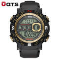 OTS Luxury Brand Mens Sports Watches Dive 50m Digital LED Military Watch Men Fashion Casual Electronics Wristwatches Hot Clock