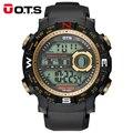 OTS Marca De Lujo Para Hombre Relojes Deportivos de Buceo 50 m Electrónica Digital LED Reloj Militar Hombres Moda Casual Reloj de Pulsera Caliente