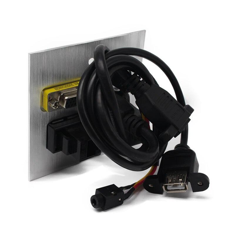 Tabletop socket  Audio,HDMI, USB, Network,VGA Information outlet box /desktop socket /Multifunction Desktop Socket