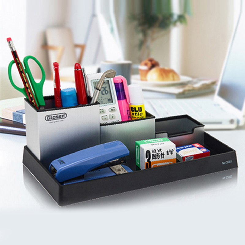 Metal Desktop Storage Box Organiser Drawer Pen Card Office Stationery Holder Multifunctional Pencil Container In Holders From
