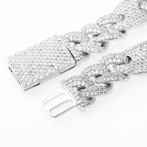 Image 3 - JINAO NEW 16mm Miami Lock Clasp Cuban Link 7 9 Inch  Bracelet Iced Out AAA Cubic Zircon Bling Hip hop Men Jewelry Gift