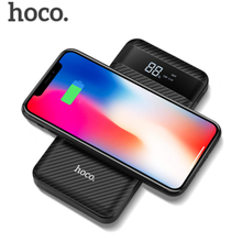 QI Wireless Charger Power Bank 10000mah Portable Dual USB with Digital Display External Battery Powerbank for iPhone X 8
