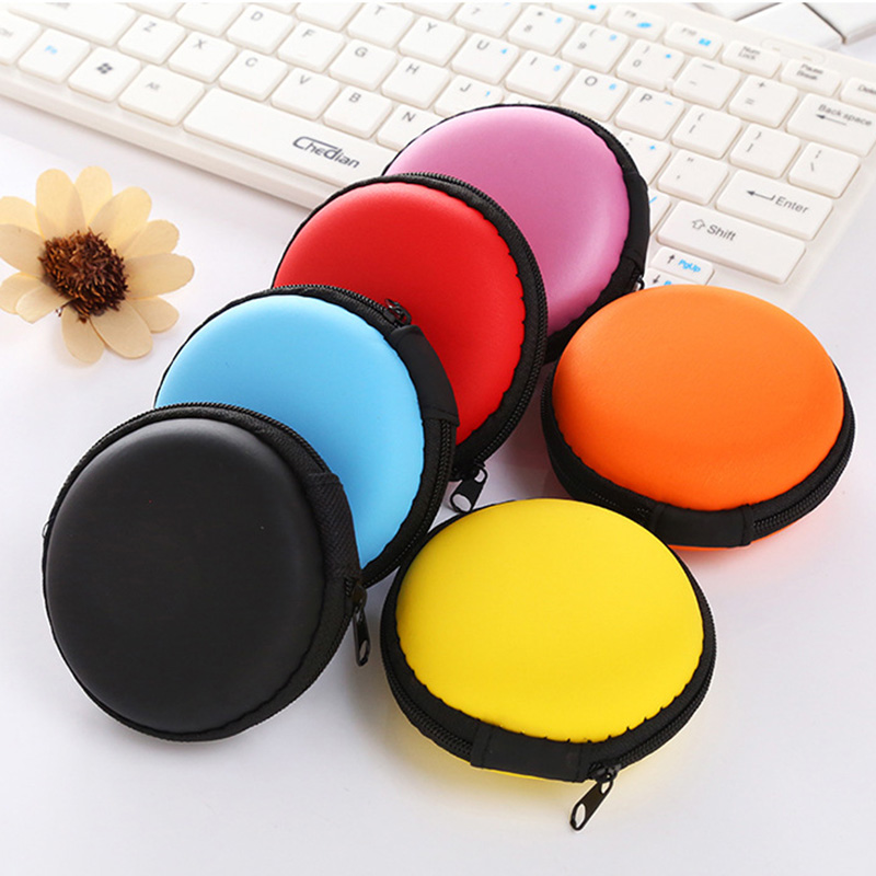Portable Bag Hard Hold Case Storage For Headphone Earphone SD TF Card USB Cable