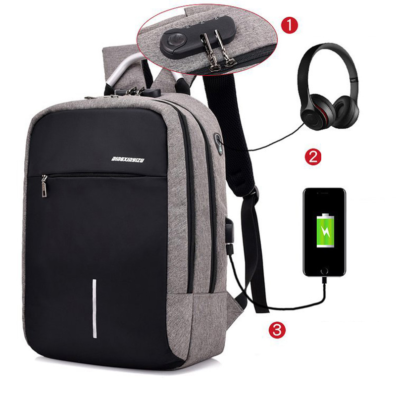 Business Travel Backpack Men Waterproof Nylon Multi-function Anti Theft Laptop Backpack Smart Usb Charging Backpacks School Bags