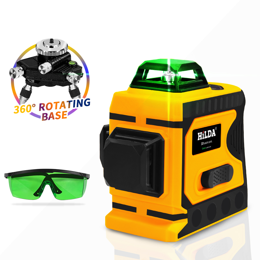 Cross 360 Self Laser Laser Powerful Level Level Green Lines Vertical Super Level 3D Horizontal Leveling 12 And